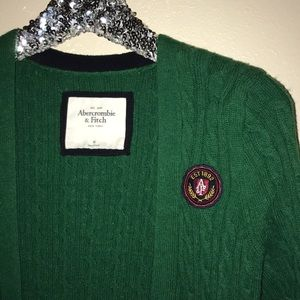 Abercrombie & Fitch Sweaters - Green cardigan